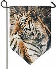 SENNSEE Hausflagge Tiertier Tiger Wildtiere Feline