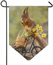 SENNSEE Hausflagge Wildtier Eichhörnchen Wald