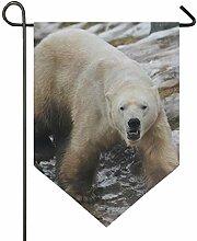 SENNSEE Hausflagge Wildtier Eisbär Garten Flagge