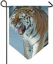 SENNSEE Hausflagge Wildtier-Tiger Garten-Flagge,