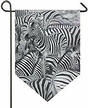 SENNSEE Hausflagge Wildtier Zebra Garten Flagge