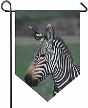 SENNSEE Hausflagge Zebra-Afrika, Wildtier-Flagge,