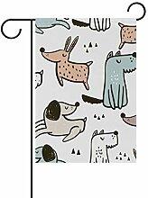 SENNSEE Hundeflagge mit süßem Muster, 30,5 x