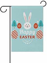 SENNSEE Ostern Eier Häschen Haus Garten Flagge