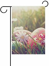 SENNSEE Ostern-Eier mit Pflanzhaus Garten-Flagge,