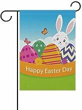 SENNSEE Ostern-Flagge mit Cartoon-Hasen-Eier, 30,5