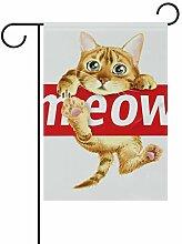 SENNSEE Süße Katze Meow Tier Haus Garten Flagge