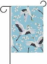 SENNSEE Vogelkran mit Blumen, Blau, 30,5 x 45,7