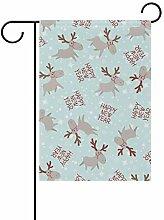 SENNSEE Weihnachtsfahne mit Rentier-Motiv, 30,5 x