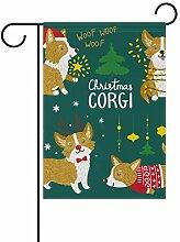 SENNSEE Weihnachtsflagge Corgi Hund Süße Haus