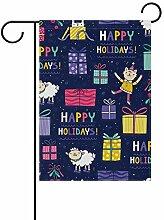 SENNSEE Weihnachtsflagge mit Aufschrift Happy