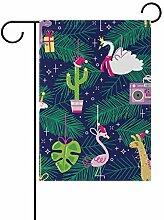 SENNSEE Weihnachtsflagge mit Einhorn, Flamingos,