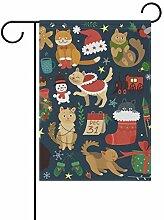 SENNSEE Weihnachtsflagge mit Tiermotiv, 30,5 x