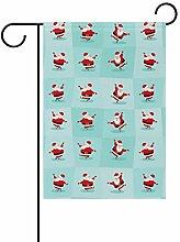 SENNSEE Weihnachtsmannflagge mit Lustigem