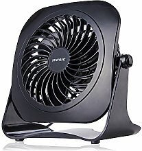 Senpaic Ventilator Tischventilator Leise Mini USB Ventilator Fan,optimal für Schreibtisch Zuhause Büro (2-fach Geschwindigkeitsregelung,Ruhe, 4 Inch)