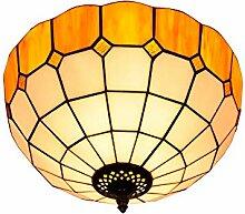SenQing Tiffany einfache Art-Gelb Glas Flush
