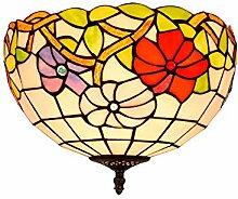 SenQing Tiffany ländlichen Stil Gelb Glas Morning