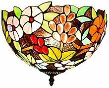SenQing Tiffany Rural Stil Farbe Glas Traube Blume