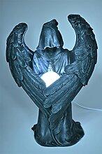 Sensenmann Darkness Engel mit LED Lampe *31 cm* Deko Figur black Angel