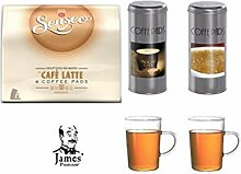 Senseo Café Latte 8 Pads + 2 Paddosen und 2