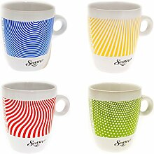 Senseo Limited Edition Tasse, Let us surprise you, Porzellan, Becher, 4er Set, Kaffeetasse
