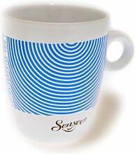 Senseo Limited Edition Tasse, Let us surprise you, Porzellan, Becher, Kaffeetasse, Creme Blau 180 ml