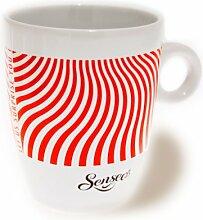 Senseo Limited Edition Tasse, Let us surprise you, Porzellan, Becher, Kaffeetasse, Creme Rot 180 ml