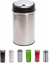 Sensor Mülleimer 42 Liter Edelstahl Automatik Abfalleimer Push Kücheneimer