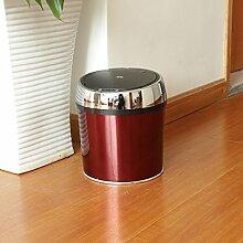Sensor Mülleimer Wein rot drum Silber Ring