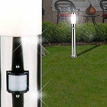 Sensor Pollerleuchte / Bewegungsmelder / Sockelleuchte Wegeleuchte Wegleuchte Außenleuchte Gartenleuchte Pollerlampe Sockellampe Wegelampe Weglampe Außenleuchte / Edelstahl