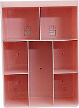 sepbear Multifunktions Aufbewahrungsbox Wand aufhängen Aufbewahrungsboxen Badezimmer Make-up Bücherregal Wand Halterung