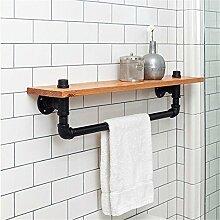 Sepia Rohre Handtuchhalter Holz Wand Wand Küche