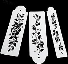 september-europe 3Kuchen dekorieren Stencil Backen Werkzeuge, Leaf Kuchen, Mesh Schablone Schimmel, Fower Edge Kuchen Werkzeuge