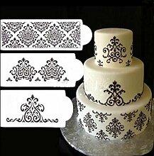 september-europe 3Küche DIY Werkzeuge Kuchen dekorieren Bakery Werkzeug, Kuchen, Blume Vorlage, Mesh Schablone Formenbau