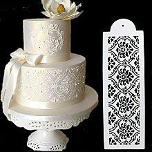 september-europe 4Hochzeit Geburtstag Kuchen dekorieren Bakery Werkzeuge, Fancy Fondant Vorlage Mould, Flower Edge Schablone Backen Werkzeug