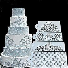 september-europe 4Spray Blumen Kuchen Schimmel, Fondant Eis Mesh Schablone, Form, Kuchen Blume Edge Vorlage Form, Hochzeit Kuchen, Dekorieren Backen Werkzeuge, Dessert Dekorieren Schimmel