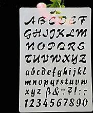 september-europe Alphabet Kuchen Schablone, Bordüre Decor Spitze-Sugarcraft Mould, Mesh Kuchen Werkzeuge