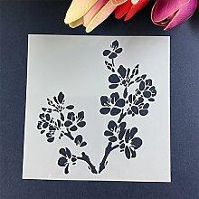 september-europe Cherry Blossom Kuchen Vorlage, Kaffee Kuchen, Mesh Schablone Form, Dessert Backen Werkzeuge
