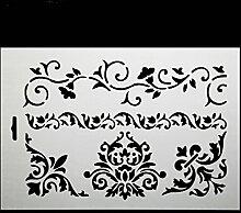 september-europe Crown Flower Vine Kuchen dekorieren Schablone, Backen Werkzeuge, Fondant Ice Mesh Form, Blume Edge Kuchen Backen Werkzeug