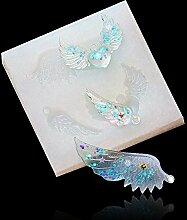 september-europe Jewelry aufreihmaterialien Formen, DIY handgefertigt Silikonform, transparent FORM für Harz, Kristall, quadratisch, Engel Flügel Geschenk