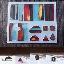 september-europe Jewelry aufreihmaterialien Formen, DIY handgefertigt Silikonform, transparent FORM für Harz, Kristall, Rechteck Geschenk