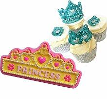 september-europe Krone Prinzessin DIY Fondant Kuchen Form Silikon Form Schokolade Polymer Clay Craft Formen handgefertigt Craft-Sugarcraft Mould Backen Schokolade Backen Werkzeuge