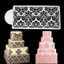 september-europe Spray Blumen Kuchen Form, Kuchen Edge Vorlage Form, Hochzeit Kuchen dekorieren Schablone, Backen Werkzeuge, creme Mesh Form