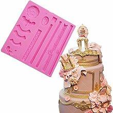 september-europe Vintage Stil Blume Edge DIY Kuchen Form Silikon Form Schokolade Polymer Clay Craft Formen handgefertigt Craft-Sugarcraft Mould Backen Schokolade Backen Werkzeuge