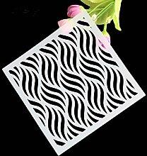 september-europe Wave Stripe Kunststoff Kuchen dekorieren Schablone daking Werkzeuge, Fondant Dessert Kuchen Vorlage