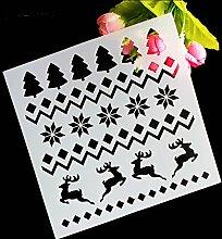 september-europe Weihnachtsbaum Kuchen dekorieren Schablone, Backen Werkzeuge, Fondant Kuchen Schimmel, Mesh Kuchen Werkzeuge