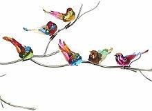 SEQ.GLT BIRD ON CLIP ASS/6 multicolour 9CM