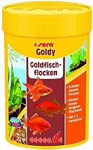 sera 00840 goldy 100 ml das Flockenfutter für kleinere Goldfische und andere Kaltwasserfische