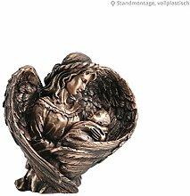 Serafinum Bronze Skulptur Engel mit Kind - Angelo