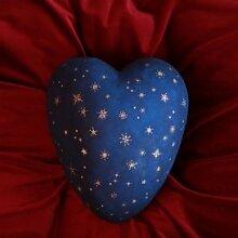 Serafinum Einzigartige überurne aus Ton in Blau mit Sternen - Posada / Blau